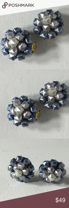 "Vintage Multicolored Hong Kong Clip On Earrings Fashion/Costume Brooch.  Metal/Beads Unknown. Years of purchased jewelry which has a history that I am unaware of so if you have allergies, keep that in mind. Always clean purchased jewelry.  Please ask all questions before purchasing. Good Used Condition - fading/discoloration of metal.  Sold ""As Is"".  Scratches.  Shows wear which is consistent with its age. Please remember, the pictures are your description, too, so please look at all of…"