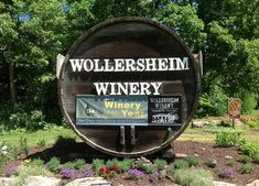Wollersheim Winery in Prairie du Sac, WI  Nestled in a hillside overlooking the Wisconsin River, this winery was rated by Trip Advisor as one of the top 10 winery tours in America.