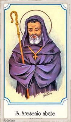 Jesús el Tesoro Escondido: San Arsenio, monje, 19 de Julio