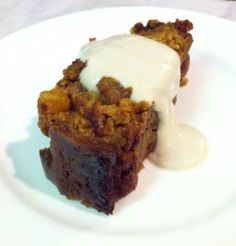 Persimmon pudding - vegan and gluten-free