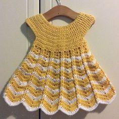 Super star dress Crochet pattern by Olga Maslennikova Crochet Baby Dress Free Pattern, Crochet Dress Girl, Baby Girl Crochet, Crochet Baby Clothes, Crochet For Kids, Baby Patterns, Knitting Patterns, Crochet Patterns, Dress Patterns