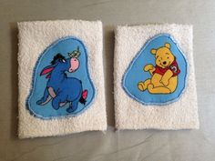 Cute Pooh and Eeyore Cotton Bath Washcloths Set of 2 NEW #Mainstays
