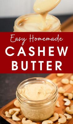 How to make cashew butter | easy cashew butter recipe | healthy nut butter recipe | best cashew butter recipe | tips for making homemade cashew butter | healthy homemade nut butter #nutbutter #cashew #cashewbutter #veganrecipes Nut Recipes, Vegan Dinner Recipes, Vegan Recipes Easy, Dessert Recipes, Vegan Dishes, Tasty Dishes, Side Dishes, Raw Cashew Butter Recipe, Healthiest Nut Butter