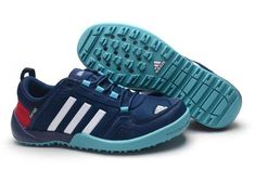 2015 Adidas Daroga Two 11 CC Wading Shoes Hiking shoes Men blue white red  on sale b16a8ec7a10