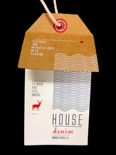 Denim Swing Tag & Label by Anna Maja Czech, via Behance Graphic Design Templates, Label Design, Print Design, Branding Design, Hangtag Design, Price Tag Design, Swing Tags, Fashion Branding, Fashion Packaging