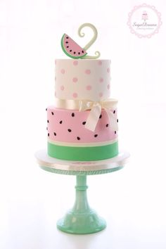 Sugar Dreams עוגות מעוצבות Watermelon and pink dots birthday cake First Birthday Party Themes, First Birthday Cakes, Birthday Cake Girls, 2nd Birthday, Birthday Ideas, Baby Shower Watermelon, Watermelon Birthday Parties, Watermelon Cakes, Pretty Cakes