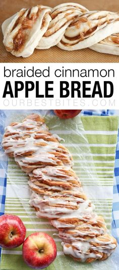 Fall Apple Bread: An amazing sweet bread twisted with apple cinnamon filling! From ourbestbites.com via @ourbestbites