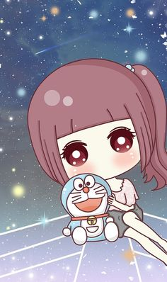 art, baby girl, and cute girl image Live Wallpaper Iphone 7, Disney Wallpaper, Doraemon Wallpapers, Cute Cartoon Wallpapers, Kawaii Chibi, Kawaii Girl, Cute Girl Image, Doraemon Cartoon, Chibi Girl