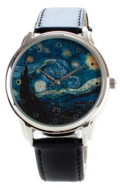 Van Gogh Watch - Wristwatch Famous People / Starry Night by Vincent van Gogh on Etsy, $62.82