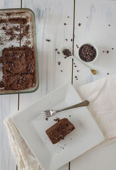 Brownie Cake with Dark Chocolate Buttercream Frosting (Gluten-Free, Primal) from Slim Palate