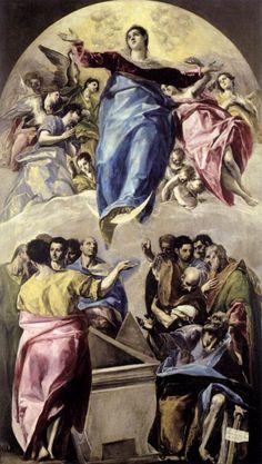 El Greco, Maria-Hemelvaart, 1577, olieverf op doek, 401 x 229 cm, Art Institute…