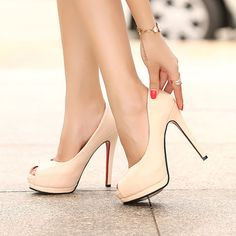 Every girl needs a pair of nude heels <3