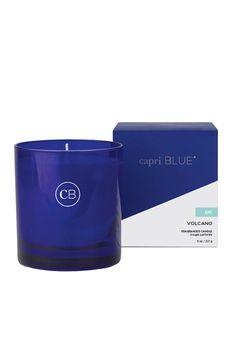 """Capri Blue Boxed Tumbler 8 Oz. - Volcano has an approximate burn time of 50 hours. Approximate Size 3.5"""" H x 3.25"""" L x 3.25"""" W in box. The Volcano fragrance is tropical fruits and sugared citrus.   Tropical Fruit Tumbler Candle by Capri Blue. Home & Gifts - Home Decor - Candles & Scents Rhode Island"""