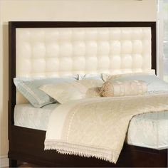 Wynwood Vinings Upholstered Panel Bed in Bordeaux Finish