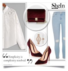 """""""#Sheinside"""" by ermina996 ❤ liked on Polyvore featuring River Island, KC Jagger, Gianvito Rossi, Michael Kors and Sheinside"""