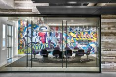 4 Tech and Finance Companies Rock Out at the Office Firm: Elkus Manfredi Architects. Interior Design Companies, Office Interior Design, Office Designs, Corporate Interiors, Office Interiors, Cool Office, The Office, Office Wall Art, Office Decor