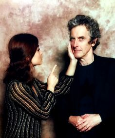 Jenna Coleman and Peter Capaldi at Awesome Con - 5 June 2016
