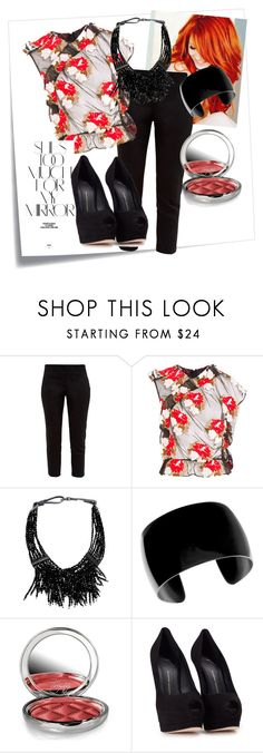"""""""Untitled #37"""" by elenp80 ❤ liked on Polyvore featuring Post-It, Ted Baker, Simone Rocha, Brunello Cucinelli, By Terry, Rika and Giuseppe Zanotti"""