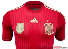 2014 adidas Spain Authentic World Cup Home Jersey...Red or Nothing! Available at SoccerPro