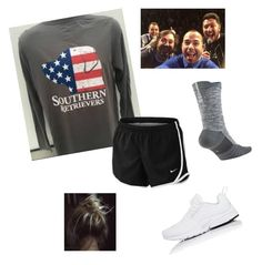 """ootd. impractical jokers."" by mallory-d ❤ liked on Polyvore featuring NIKE"