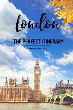 london travel guide itinerary