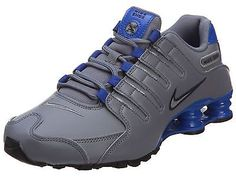 Nike Shox Nz Mens 378341-014 Grey Blue Running Shoes Athletic Sneakers Size 8
