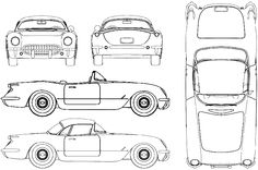 pinewood derby corvette template -