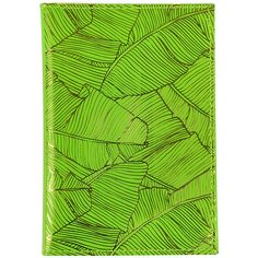 Undercover Leather Passport Holder - Fluorescent Green & Pineapple (€12) ❤ liked on Polyvore featuring bags, luggage and green