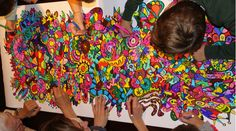 ¡Mirad que cantidad de colores! ¡Si es que quedan de maravilla!  #Pintafun #colours