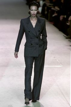 Saint Laurent | Spring 2002 Couture Collection | Style.com - The Pantsuit