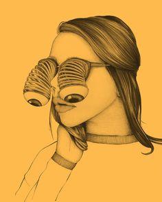 Illustration for Optician Herr Menig Optik by Philipp Zurmöhle