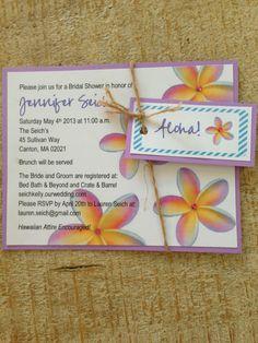 Hawaiian Themed Bridal Shower