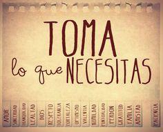 Toma lo que necesitas
