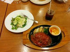 イタリアンハンバーグ&ミニサラダ
