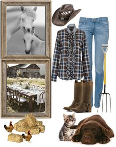 """""""The farm"""" by kendraborneman ❤ liked on Polyvore"""