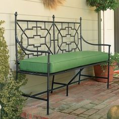 Pretty bench from Gump's. Via Elements of Style Blog.