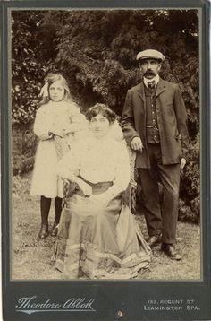 Antique Cabinet Card Photo - Edwardian Family Group c. 1900s. £5.00, via Etsy.