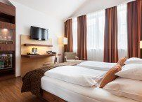 Imlauer Hotels Wien right in the city centre between Messe & Stephansplatz, with connection to the main train station & airport - save money, book directly! Bed, Suites, Furniture, Hotel, Home Decor, Room
