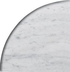 X X Round Edge Bianco Carrara Premium Corner Shelf Piece Both Sides Polished by Alternative Tiles: Bianco Carrara Corner Shelf, Size: Thickness: Both Side Polished Marble, For Use In Bathrooms, Premium Quality