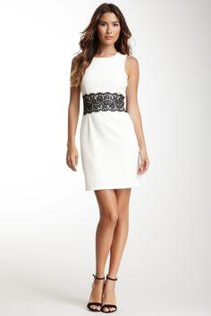 Sleeveless Lace Trim Dress @Pascale Lemay De Groof