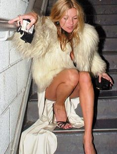 Kate Moss at the weekend. . see more at http://www.spikesgirls.com