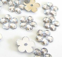 50 pcs Crystal Clear Flower Sew on Flatback by ILoveYoYoDIYFlowers, $1.49
