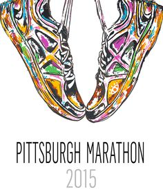 New, limited-edition race poster for the 2015 Dick's Sporting Goods Pittsburgh Marathon.