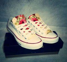 shoes converse fleurie
