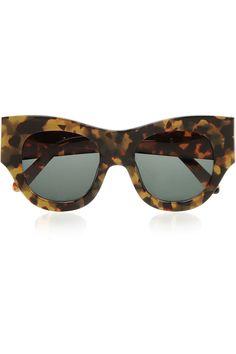 Finds|+ Karen Walker Faithful D-frame acetate sunglasses|NET-A-PORTER.COM