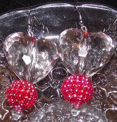 Puffy Heart Earrings by reddirtroseokc on Etsy