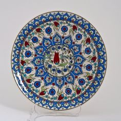 30 CM LALE TABAK - Kültür A.Ş. Ceramic Decor, Ceramic Plates, Decorative Plates, Turkish Tiles, Tile Art, Porcelain Tile, Islamic Art, Art And Architecture, Persian