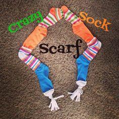 Crazy sock day sock scarf