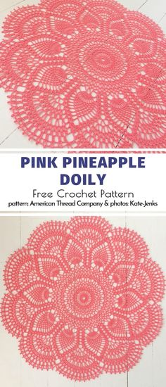 Pink Pineapple Doily Free Crochet Pattern Looking at stunning crochet designs is an ultimate pleasure for someone who is learning this craft. Today's collection of Amazing Crochet Doilies is for seasoned Free Crochet Doily Patterns, Crochet Doily Rug, Crochet Dollies, Thread Crochet, Crochet Designs, Crochet Crafts, Crochet Projects, Filet Crochet, Crochet Doily Diagram