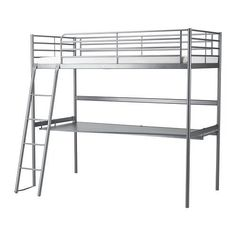 Shop for bunk beds and loft beds at IKEA. Choose a bunk bed or loft bed in lots of styles and materials to match your bedroom. Ikea Loft, Ikea Bunk Bed, Cool Bunk Beds, Kids Bunk Beds, Loft Beds, Single Loft Bed, Twin Size Loft Bed, High Bed Frame, Loft Bed Frame
